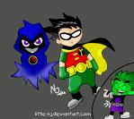 teen titans FULLY colored by little-nj
