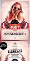 Disco Party Flyer Template by mucahitgayiran