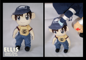 Left 4 Dead Ellis Plush by sugarstitch
