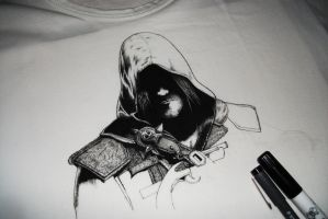 Assassin creed 4 on t-shirt Wip by Andrian91