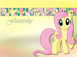Fluttershy Wallpaper by phasingirl