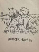2016 - 10oct - Inktober (Day 13) by mosobot64