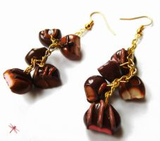 chocolate earrings by dragonflyme