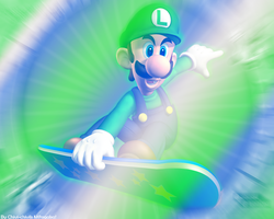 Luigi Wallpaper 2 by Chivi-chivik