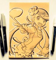 Mallow Sketch (TCG remake) by TruiArts