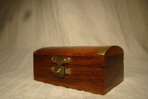 Wooden chest with an anchor on the cover 2 by Panopticon-Stock