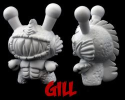 Dunny Monster : DIY Gill by zombiemonkie