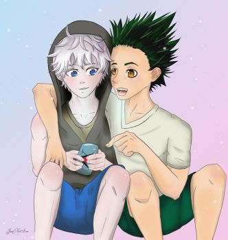 Gon and Killua - Commission for Attackonshawn by JunNoAce