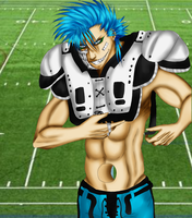 Football Player- GRIMMJOW by R-Blackout
