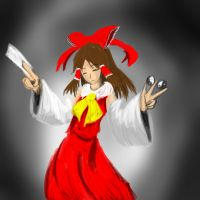 Is that Shrine Maiden no I cannot evade Danmaku by MantarWolf