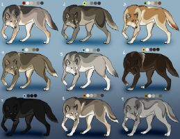 Natural Wolf Adoptables: CLOSED by Nature-Ridge-Adopts
