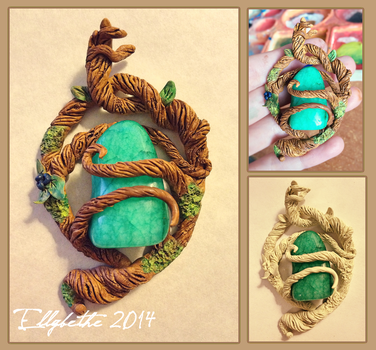 Woodland Heart Amulet by Ellybethe