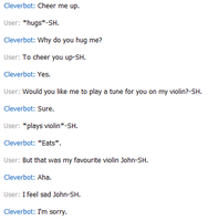 When pretending to be Sherlock Holmes on Cleverbot by TanTanTanuki