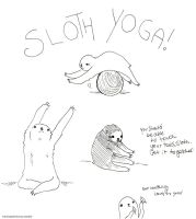 SLOTH YOGA by karuhichan359