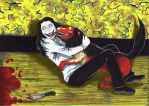 Jeff the killer and Smile Dog  sweet moment by stellinanera