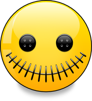 Stitched Smiley (vector) by mondspeer