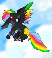 Soaring with rainbows in the Summer sun by StrawberrySplatters