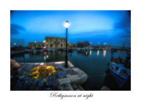 Rethymnon at night III by calimer00