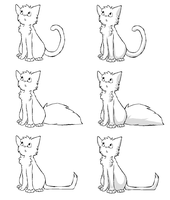Cat lineart by Storm-adopts-13