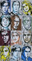 HEROES Sketch Cards - Group 1 by grantgoboom