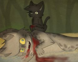 Ashfur's death by Evilpaw