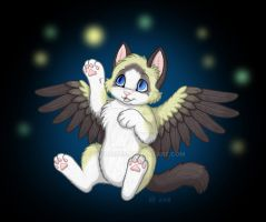 Winged Kitten by VeroRamos