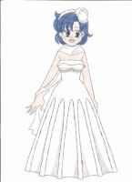 Ami's wedding gown by animequeen20012003