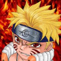 Naruto on Fire by jooter