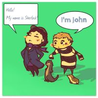 Chibi Johnlock by KanalenSE