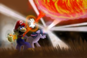 Mario and Twilight Epic by s216Barber