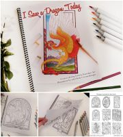 Coloring Book! - I Saw a Dragon Today by Kamakru