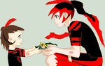 Its luck (maka and her younger self) by sillywownow