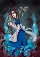 Alice and Cheshire by T-Apostate