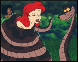 Kaa Coiling Ariel by jazz316