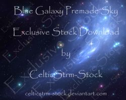 Blue Galaxy Premade by CelticStrm-Stock by CelticStrm-Stock