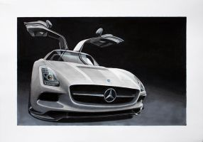 Mercedes SLS AMG Coupe Black Series by scrim23