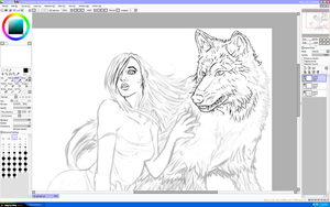 Wolf and the Maiden [WIP] by RJSoria