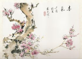 chinese brush painting 1 by ak-honda-97