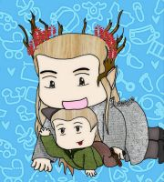Thranduil and Legolas , father and son by Mau0410