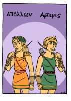 Apollon and Artemis by A-gnosis