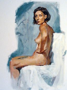 Study from life-Acrylics by DiegoGisbertLlorens