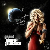 Grand Theft Galactica by KarlaCr0me