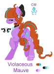 New OC Reference: Violaceous Mauve by TearyIris