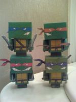 Teenage Mutant Ninja Turtles Cubee Group Finished by rubenimus21