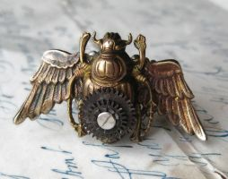 Steampunk Flying Beetle Ring by NobleStudiosLtd