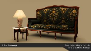 Lamp and Sofa by merage