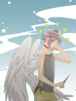 Gift Art - Hurt Angel by Mebon