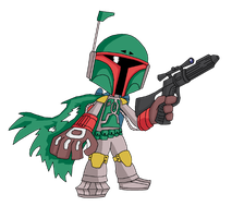 Boba Fett for 5000 coloured by TheLifeOfGaston
