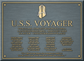 USS Voyager Plauqe by CrisCarter
