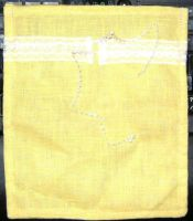 Drawstring Bag- yellow with lace by Ryuus-Wardrobe